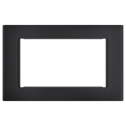 Kit de garniture optionnel intégré pour micro-ondes de 30 pouces, résistant aux empreintes digitales, en noir mat