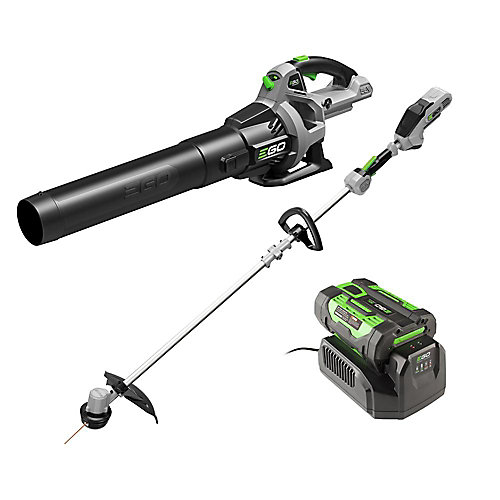 15 inch String Trimmer & 530CFM Leaf Blower Combo Kit 2.5Ah  attery and 210W charger included