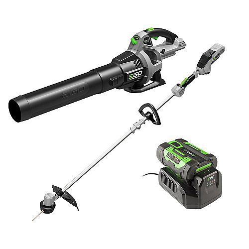 POWER+ 15 inch String Trimmer & 530CFM Leaf Blower Combo Kit, 2.5Ah Battery and 210W charger included