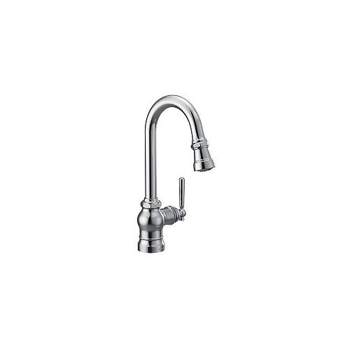 MOEN Paterson Single-Handle Pulldown  Bar Faucet  In Chrome