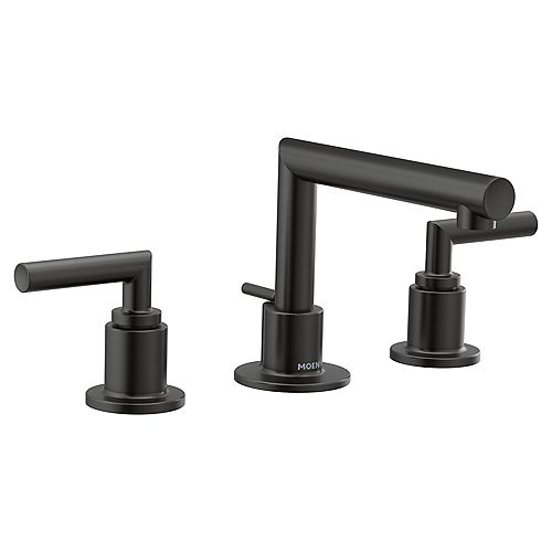 Arris Widespread Lav Faucet In Matte Black