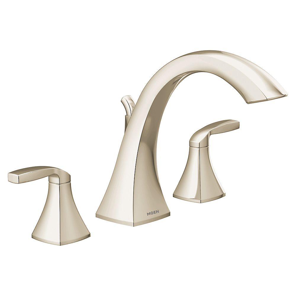 MOEN Voss baignoire romaine à deux poignées en nickel poli (valve vendue séparément)