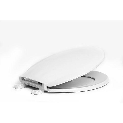 1200-001 Round Toilet Seat, White