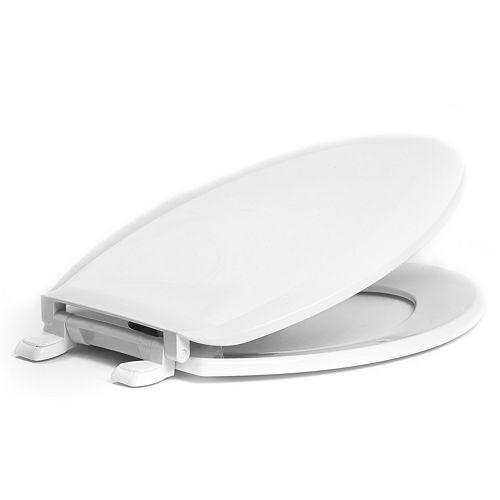 1600-001 Elongated Toilet Seat, White