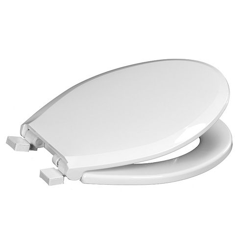 Centoco 3700SC-001 Round Toilet Seat with Safety Close, White
