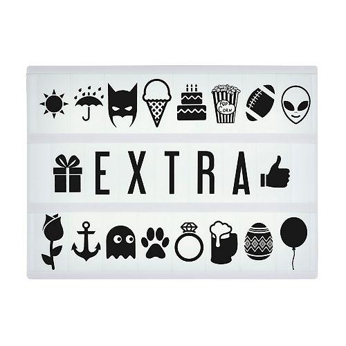 Pack symboles et lettres (Boîte à lumière Original / Vintage / Marquee)