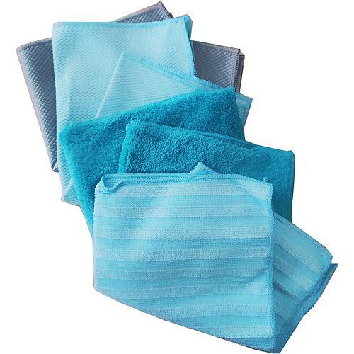 HDX Microfibre Cloths Set (Assorted 12-Pack)