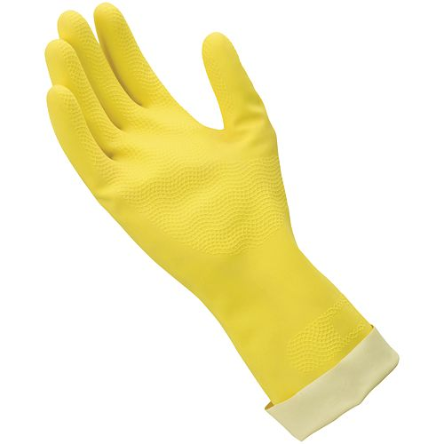 HDX 2 Pair Yellow Rubber Gloves