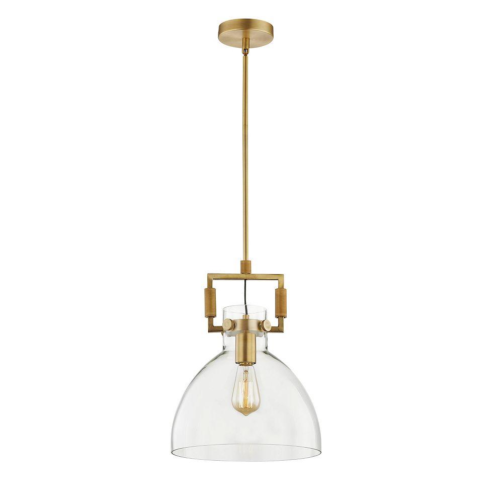 L2 Lighting Suspendu Simple Verre Cloche 12'' Dia Or Industriel