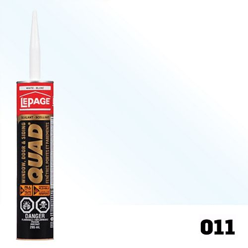 LePage 295 mL Quad Waterproof Flexible Sealant in Translucent 011 for Doors & Windows