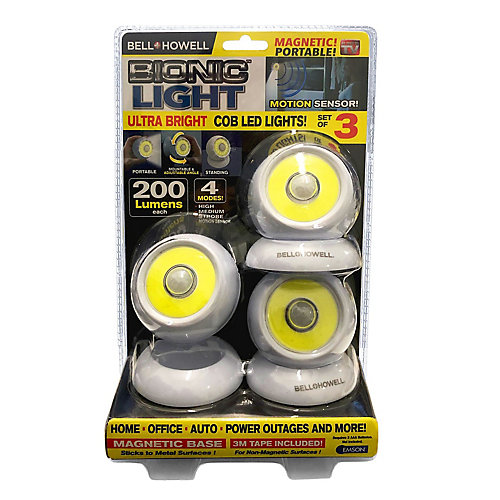 Bionic Lights Ultra Bright COB LED Lights (3 Pack)