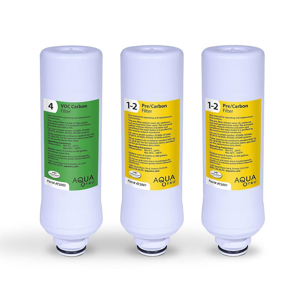 AquaTru Replacement Filter 1 Year Combo Pack