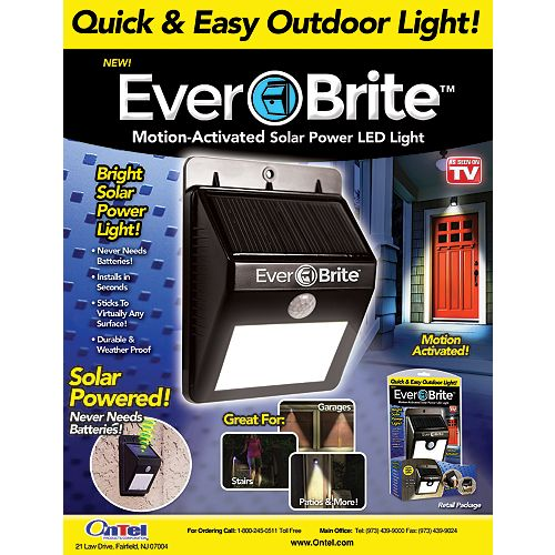 Ever Brite Motion-Activated Outdoor LED Light