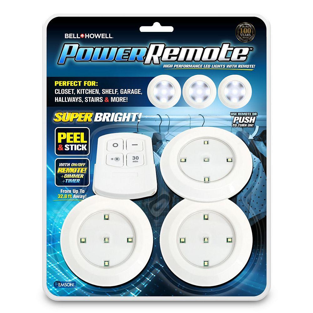 Bell + Howell Lumières DEL haute performance Power Remote avec télécommande