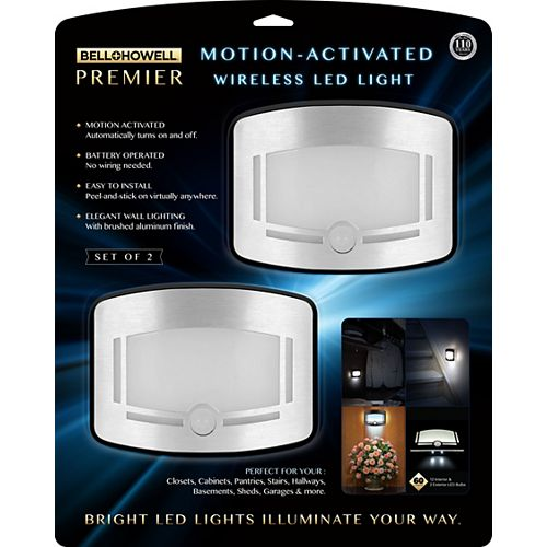Motion Activated Wireless LED Lights (2 Pack)