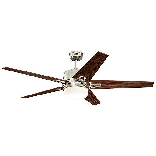 Zephyr 56-inch (142cm)  Five-Blade Brushed Nickel finish Indoor Ceiling Fan