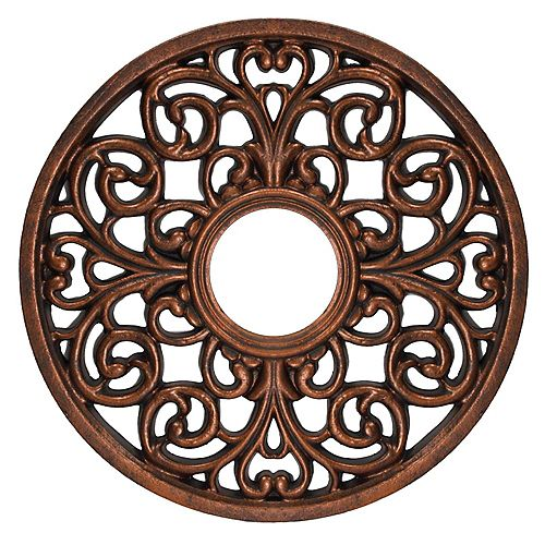 16-Inch (40.6cm) Round Parisian Scroll Ceiling Medallion