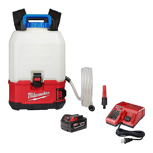 M18 18V 4 Gal. Li-Ion Cordless Switch Tank Backpack Water Supply Kit with 3.0 Ah Battery and Charger