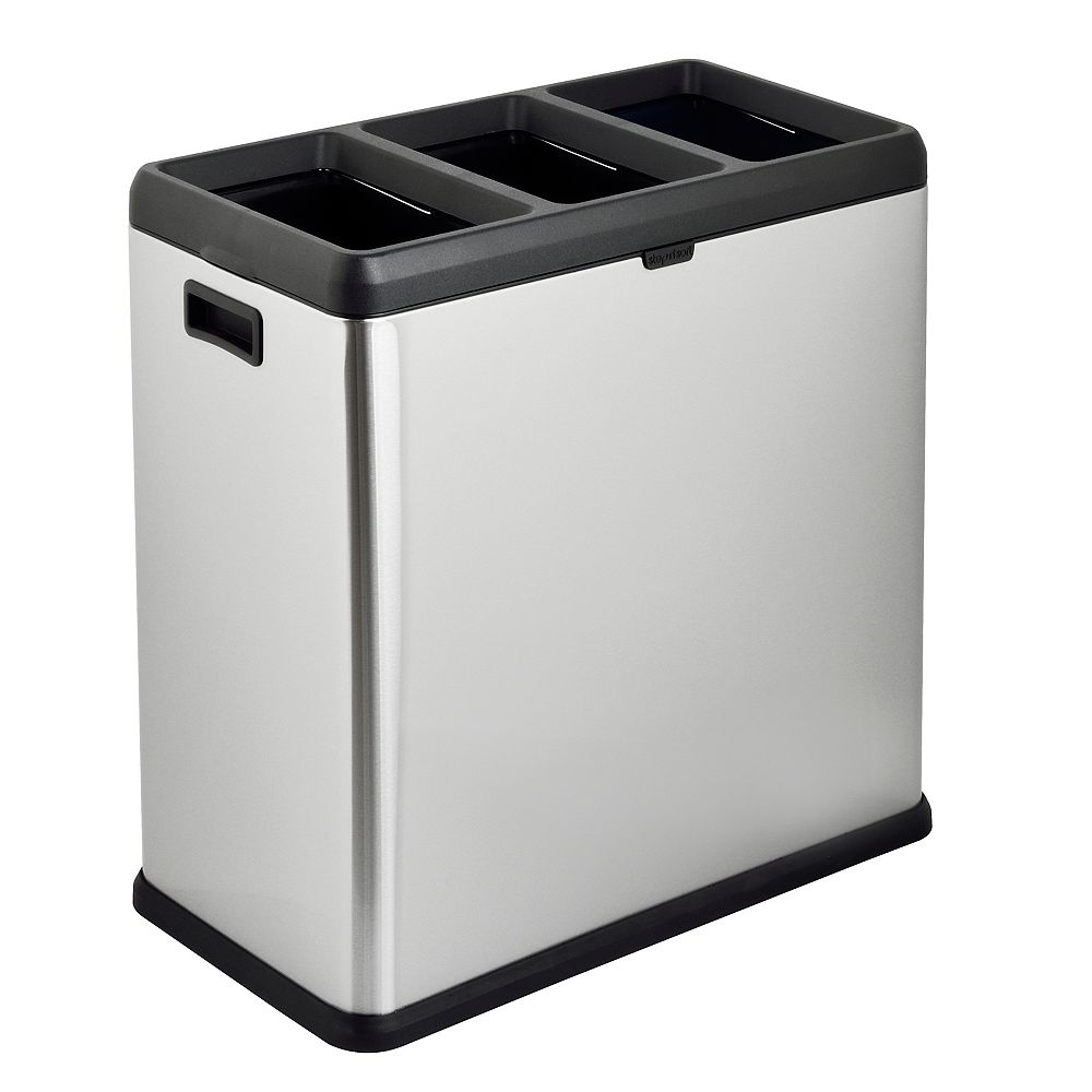 The Step N' Sort The Step N' Sort 60L Open Top 3 Compartment Trash and Recycling Bin