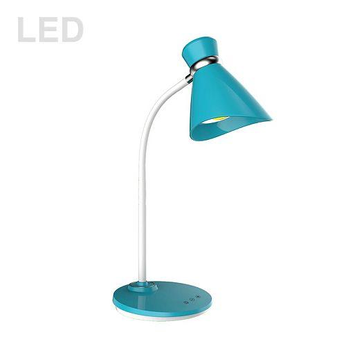 Lampe de bureau à DEL 6W, finition bleue