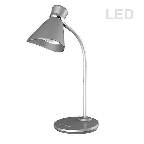 Lampe de bureau à DEL 6W, finition argentée