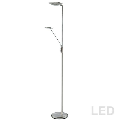 Lampadaire DEL Mother & Son, fini chrome satiné