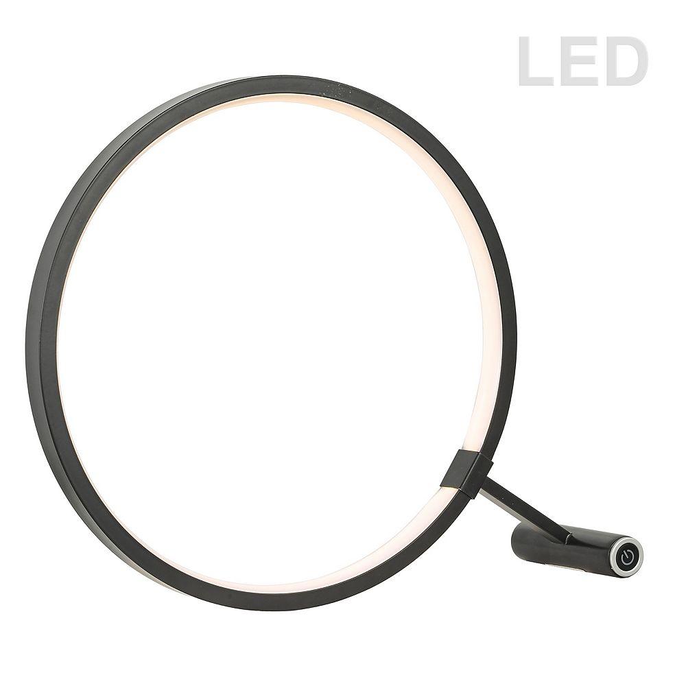 Dainolite Lampe de table à DEL 15W, finition noire