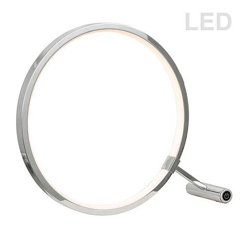 Lampe de table à DEL de 15 W, fini chrome poli
