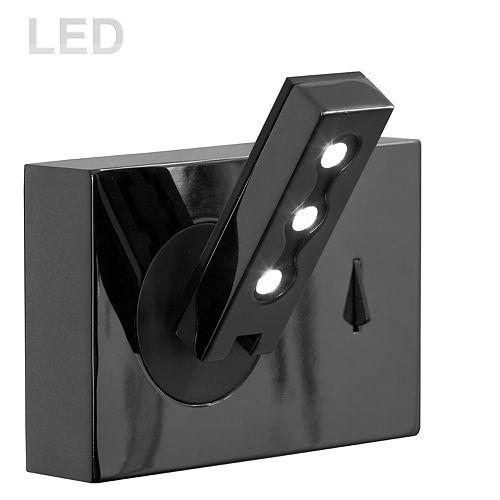 Dainolite 1 Light LED Wall Mount, Black Finish