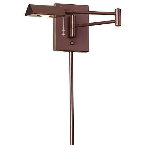 LED Swing Arm Wall Lamp, Oil Brushed Bronze