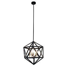 5-Light Matte Black Chandelier Light Fixture with Antique Brass Accents