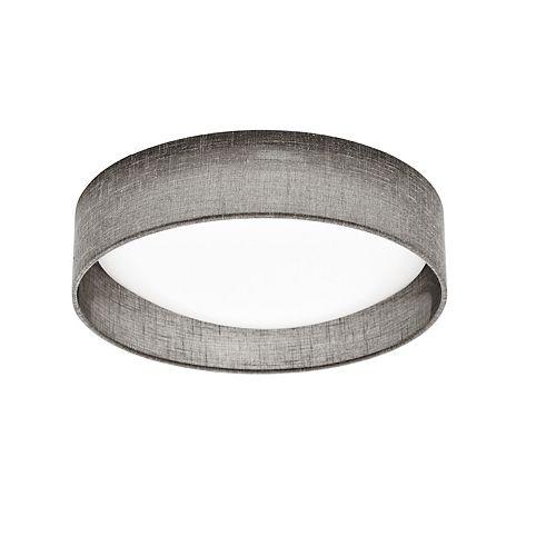 Montage encastré à DEL fini chrome satiné, abat-jour gris