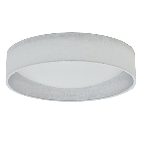 Dainolite LED Flush Mount, Satin Chrome Finish, White Shade