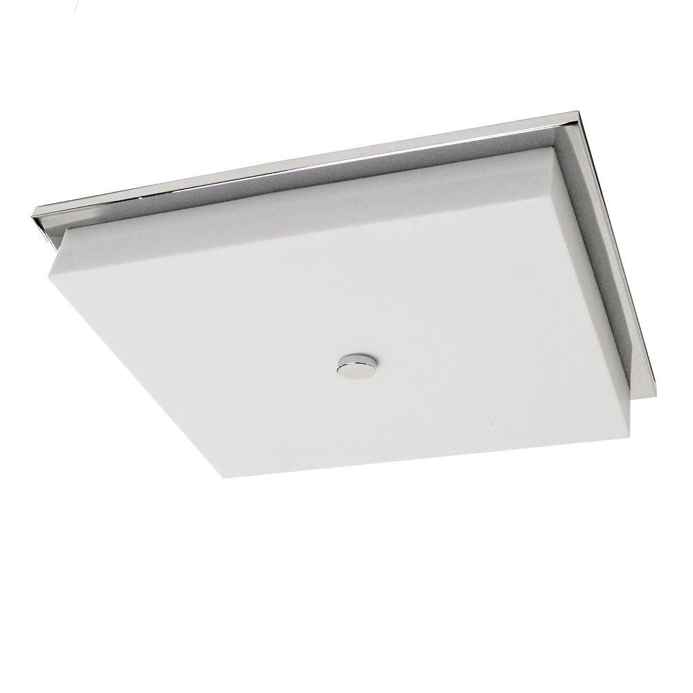Dainolite Finition chrome poli à montage encastré DEL de 28W avec diffuseur en acrylique blanc
