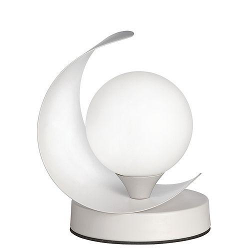 1 Light Incandescent Table Lamp Matte White Finish
