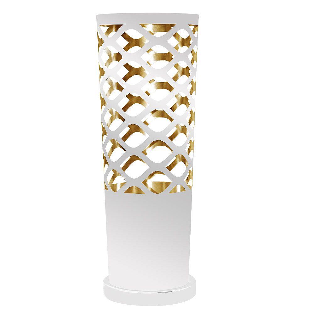 Dainolite Lampe de table à 1 lampe, base blanche