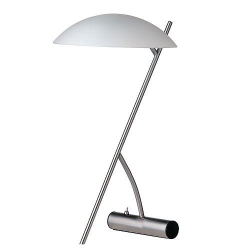 Lampe de table à 1 lumière à incandescence, chrome satiné