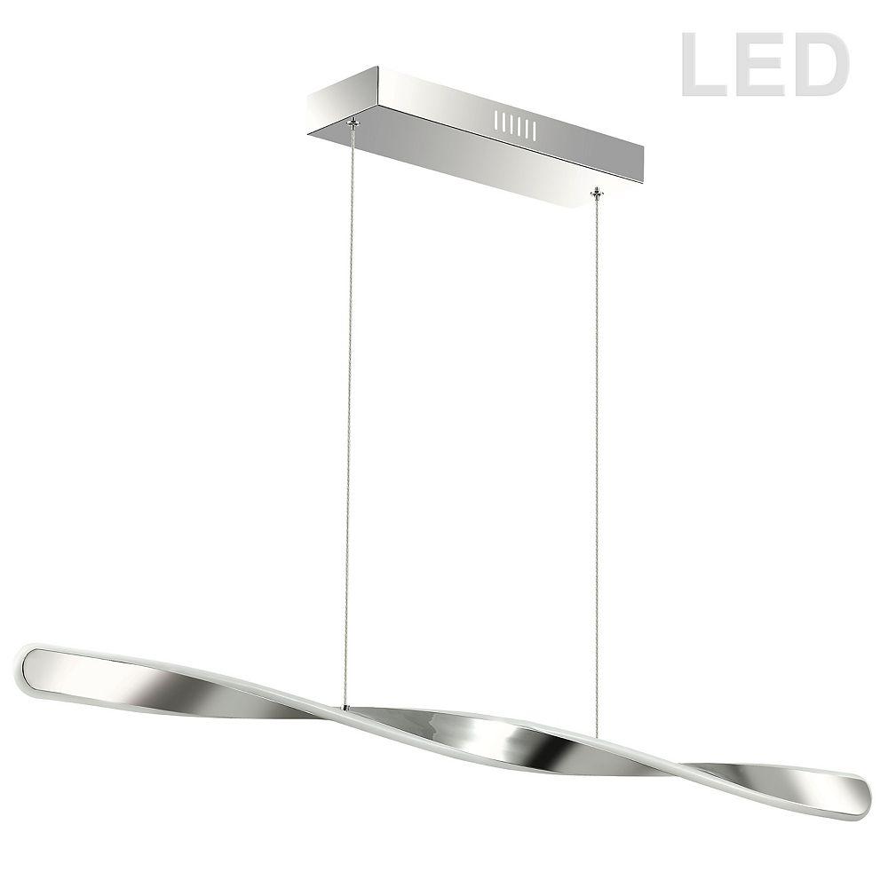 Dainolite Luminaire suspendu horizontal à DEL 32W, fini chrome poli