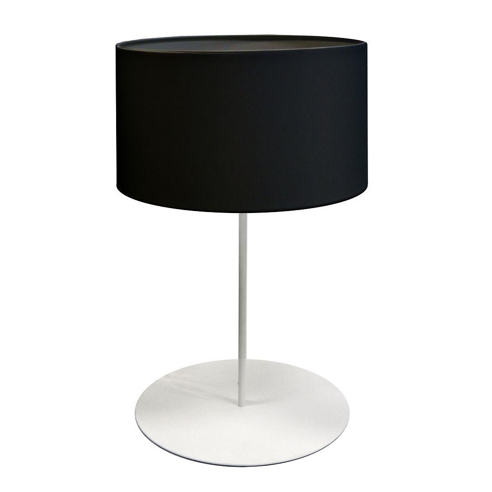 Dainolite Lampe de table à tambour léger avec abat-jour noir