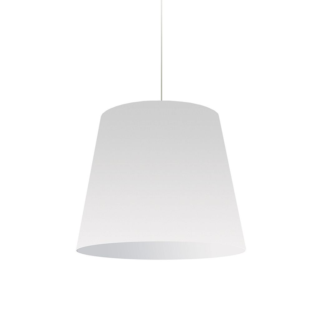 Dainolite Pendentif de tambour surdimensionné, lumière moyenne, abat-jour blanc