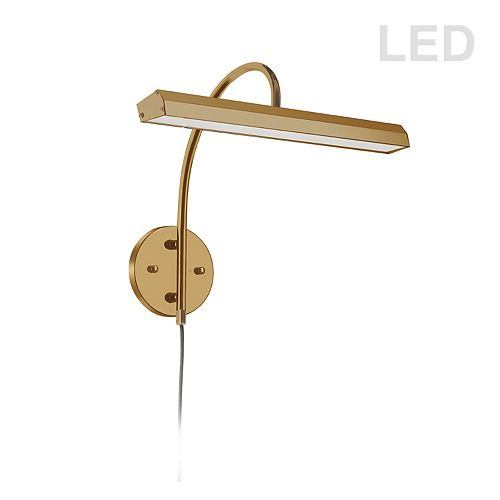 24W LED Picture Light Aged Brass Finish