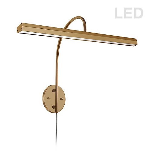 48W LED Picture Light Aged Brass Finish