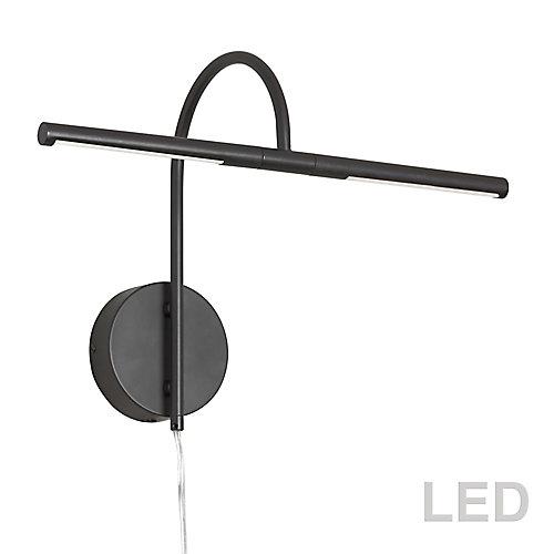 6W LED Picture Light Matte Black Finish