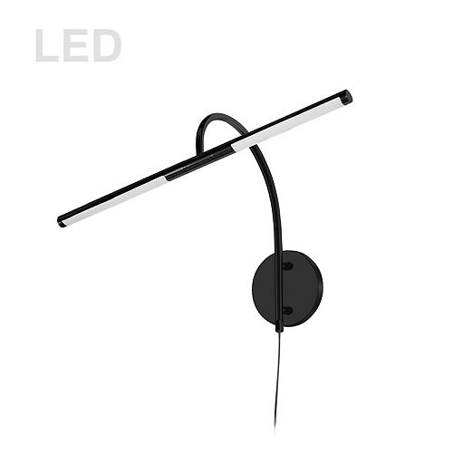 6W LED Picture Light Matte Black Finish