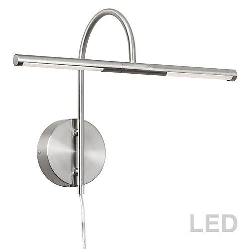 6W LED Picture Light Satin Chrome Finish