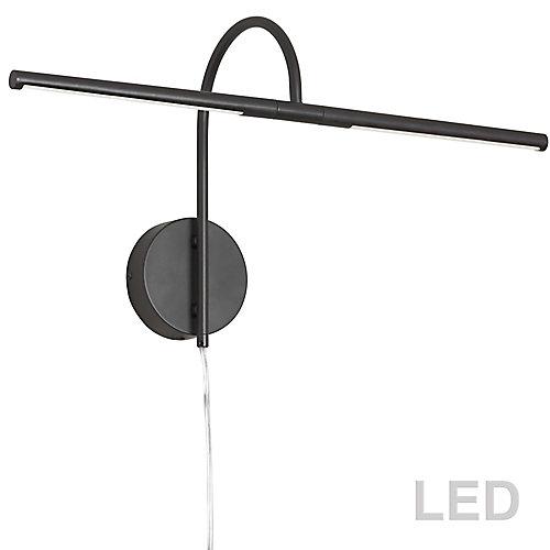 10W LED Picture Light Matte Black Finish