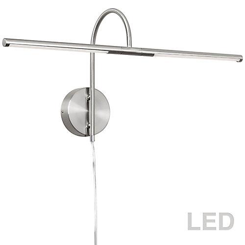 10W LED Picture Light Satin Chrome Finish