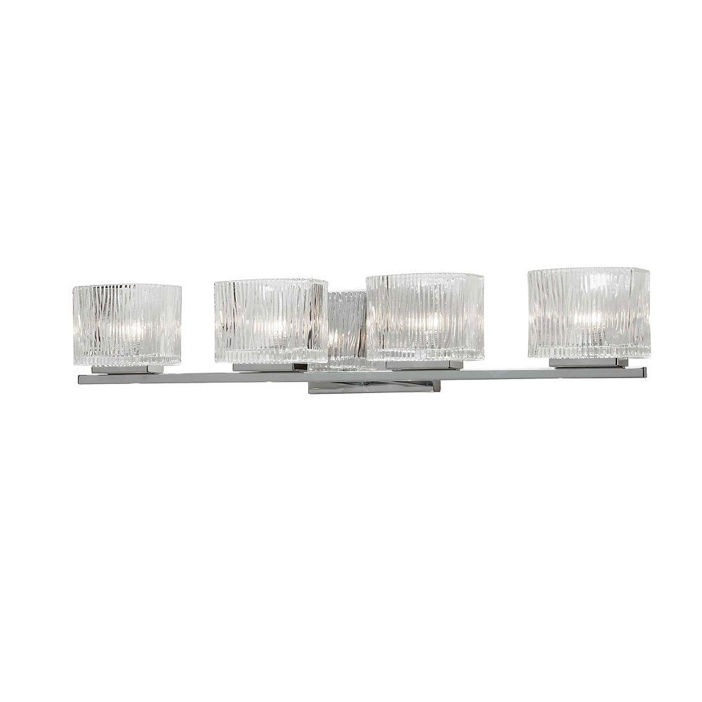Dainolite Vanité 4 lumières, fini chrome poli