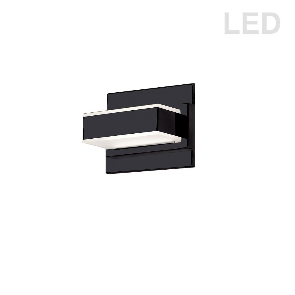 Dainolite 1-Light LED Wall Vanity Light in Matte Black Finish