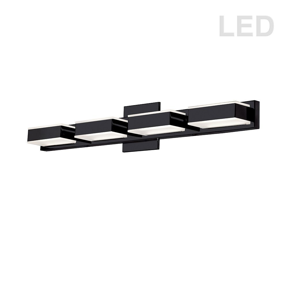 Dainolite 4 Light LED Wall Vanity, Matte Black Finish
